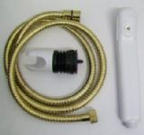 Pegler Goldline Shower Hose White Head and Bracket - ZZ